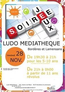 soirée jeux du 28 novembre à Bordères