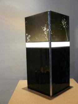 Lampe colonne noire.