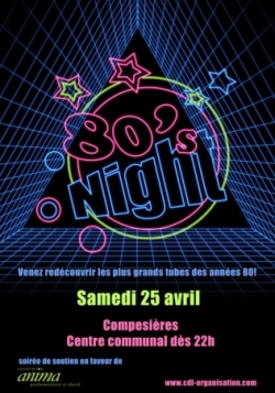 Affiches 80'sNight CDL