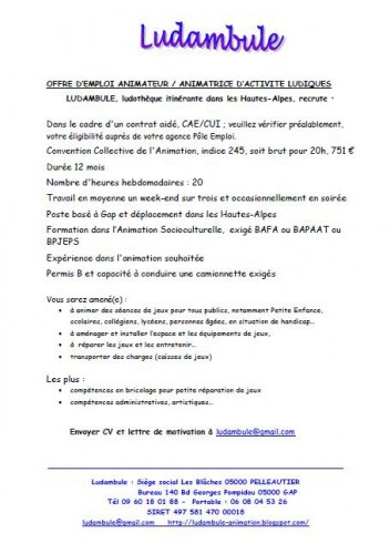 Ludambule Recrute Apf France Handicap Hautes Alpes