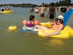 Baignade au lac