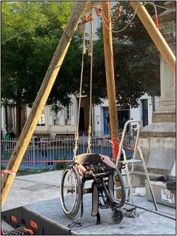 Une tyrolienne fauteuil