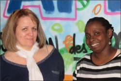 Michèle et Doihara stagiaires