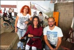 7ème jour Liliane Vivien et Laïla notre bénévole