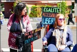 """La caravane """"En route pour nos Droits"""" à Evry le 13/05/2019"""