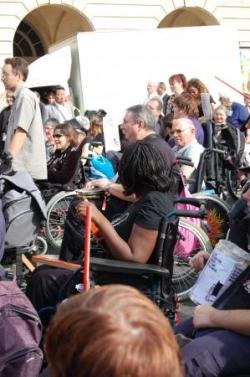 Une autre photo de manifestants