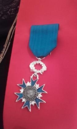 Frédérique Galbez chevalière de l'Ordre National du Mérite.