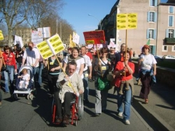 Manifestation 19 mars 2009 à Carcassonne