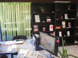 Un bureau d'accueil aux couleurs de la nature