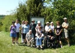 Participants à la visite du marais