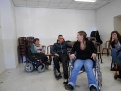 Essais de fauteuils en salle