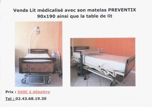 annonce lit m dicalis table de lit vendre 09 11 apf france handicap. Black Bedroom Furniture Sets. Home Design Ideas