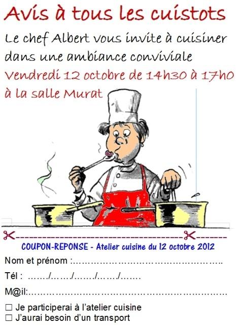 1er atelier cuisine de la rentr e association des for Atelier de cuisine laval