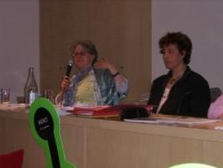 L'Administratrice Apf pendant son exposé