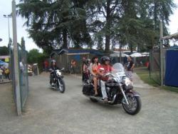 Arrivée des motards