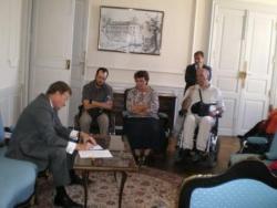 Monsieur le Préfet reçoit la délégation APF du 65