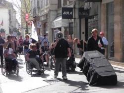 Cortège funéraire de la Loi Handicap de 2005
