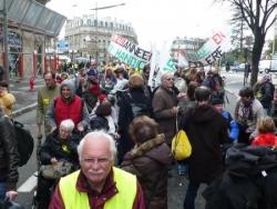 Départ de la manifestation
