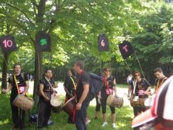 Petit groupe de percussions pour donner du courage