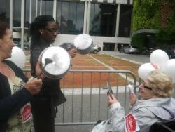 Manifestation contre la fermeture du sav DU 92