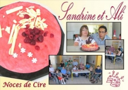 Noces de Cire de Sandrine et Ali. Juin 2014