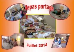 Repas partage. Juillet 2014