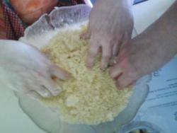 Préparation de la pâte à crumble