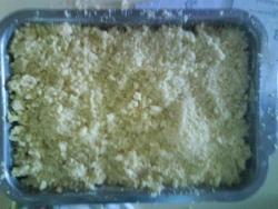 On saupoudre de notre pâte sablonneuse