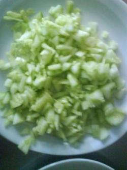 Emincé de concombre
