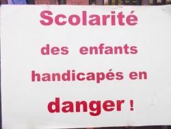 Scolarité des enfants handicapés en danger !