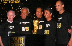 Representatives of the FIFA World Cup winning Braz