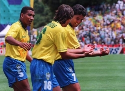 Coupe du monde 1994: Celebration du but de Bebeto