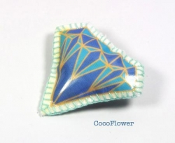 Broche faux diamant
