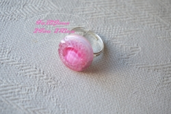 Bouton verre rose