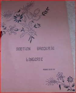 Cahier de broderie section broderie lingerie