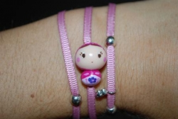 Bracelet rose Matriochka