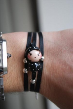 "Bracelet ruban ""Dolly la parisienne"""