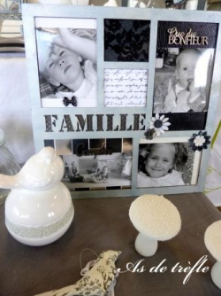 Cadre scrapbooking famille