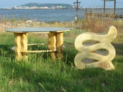 "Table basse ""Vague"""