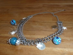 collier large chaine turquoise
