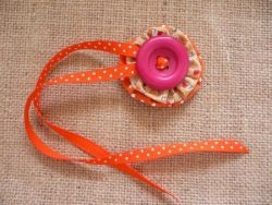 cocarde orange et rose