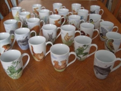 Mugs peints en porcelaine