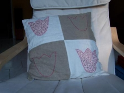 Coussin tulipes