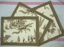 Sets de table toile de Jouy