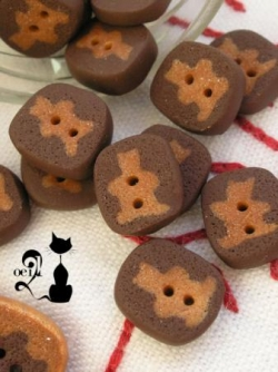 Boutons oursons couleur choco