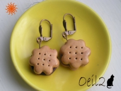 Boucles d'oreille biscuits