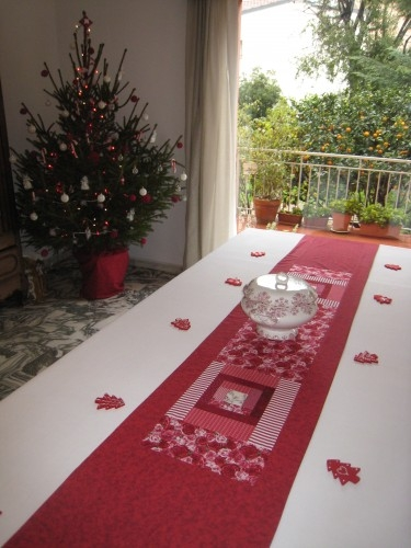Chemin de table pour no l ours patch et brocante - Chemin de table pour noel ...
