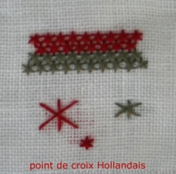 point de croix Hollandais