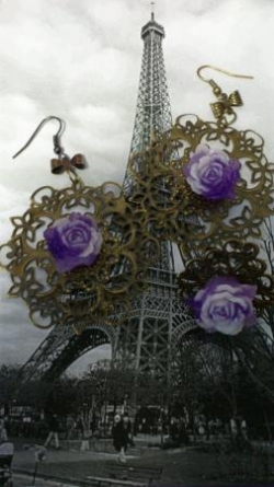 "Parure collection ""Les roses de Paris"""