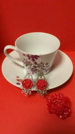 "Parure collection ""au nom de la rose"""